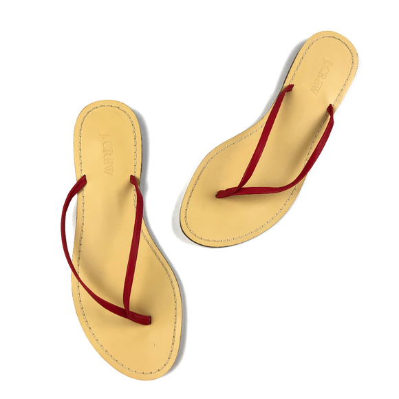 7ac59d6f5f7205 J. Crew Factory Shoes - J Crew Factory Red Skinny Thong Flip Flop Sandals